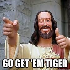 Em Meme - go get em tiger encouraging jesus quickmeme