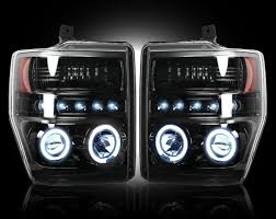 jeep commander black headlights part 264196bk smoked projector headlights ford superduty 08 10