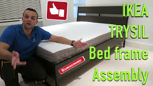ikea trysil bed frame assembly youtube