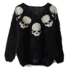 skull sweater tops 9 polyvore