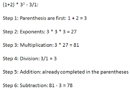 order of operations worksheets with exponents order of operations with signed numbers study
