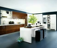 kitchen spacious contemporary kitchen with black kitchen island