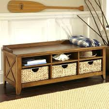 bench with shelf underneath entrance bench seat for shoes entryway