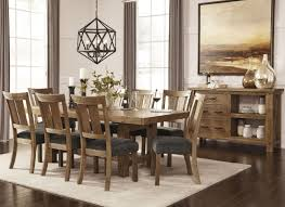 tamilo gray brown rectangular extendable dining room set from