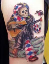 grateful dead tattoos gd 19 fresh jester with guitar feed