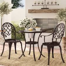 outdoor iron table and chairs metal patio furniture you ll love wayfair