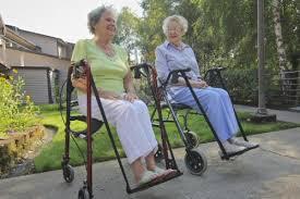 senior walkers with seat walker sling foot rest black for open handled walker
