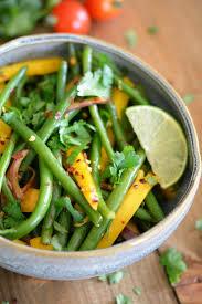 cuisiner des haricots verts frais salade exotique d haricots verts frais à la mangue megalow food