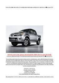 calaméo toyota 2005 2013 hilux workshop repair u0026 service