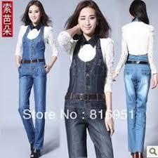 Jeans Jumpsuit For Womens Womens Jeans Jumpsuits Denim Long Pants Deep V Neck Slim