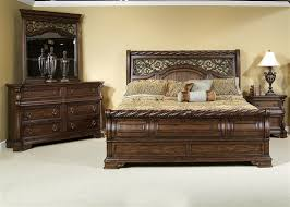 Brownstone Bedroom Furniture by Arbor Place Sleigh Bed 6 Piece Bedroom Set In Brownstone Finish By