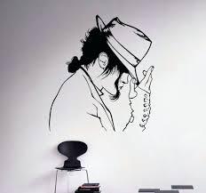 drawing ideas decoration wall drawing ideas decal vinyl sticker king of pop star