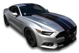 Black Mustang Stripes Ford Mustang Racing Stripes Side Rocker Stripes And Fender