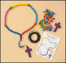 how to make a rosary make your own beaded rosary craft kit ccd craft