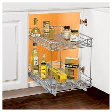 2 tier cabinet organizer lynk professional pull out double drawer 2 tier sliding cabinet