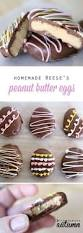 homemade cream filled chocolate easter eggs peanut butter maple