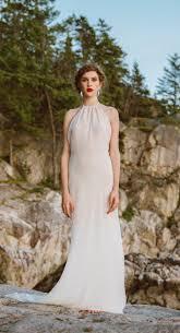 elegant backless wedding dress in ivory cotton by elikadesigns