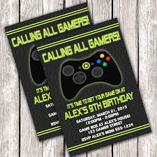 How To Design Video Games At Home by Video Game Birthday Party Invitations Alanarasbach Com
