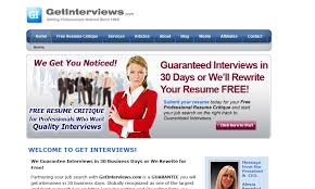Free Resume Writing Services Online by Review Of Getinterviews Com