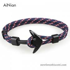 anchor wrap bracelet images Ainian new fashion black anchor bracelets men charm 550 survival jpg