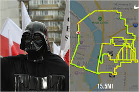 Google Maps Running Route by Us Runner Maps Running Routes Based On Star Wars Characters