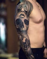 full sleeve tattoos black and grey best tattoo ideas gallery