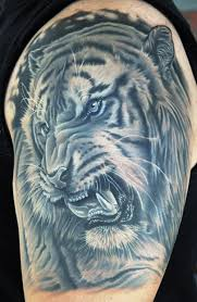 41 tremendous tiger shoulder tattoos