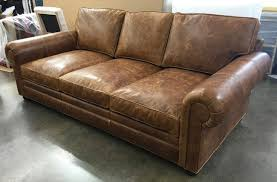 Langston Leather Sofa In Italian Brentwood Tan The Leather - Full leather sofas