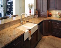 kitchen nice kitchen with curved counter and dark gray granite