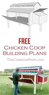 free chicken coop plans the creative mom