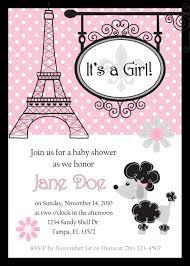 create easy paris baby shower invitations free ideas invitations