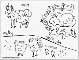 awesome farm animals coloring pages images childrens