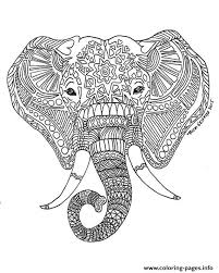 printable elephant difficult hard zen coloring pages