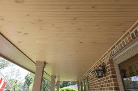 wooden porch ceiling installed by opal enterprises in saint