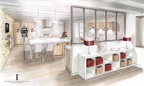 cuisine en perspective déco salon conception et décoration d une cuisine entrée