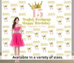 personalized photo backdrop birthday princess step and repeat personalized photo backdrop