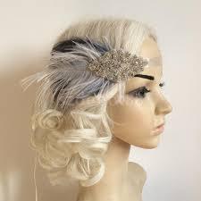 great gatsby headband diamante fascinator feather 1920s headpiece flapper hairband great