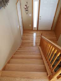 Laminate Flooring Installation On Stairs Hardwood In The Split Level Home A Project Blog Natural Accent