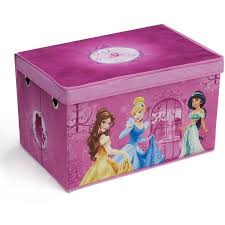 disney princess toddler bed with fabric toy box bedroom value