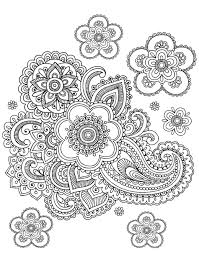 free coloring page coloring paisley difficult difficult