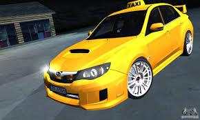 subaru impreza wrx modified subaru impreza wrx sti 2011 taxi for gta san andreas