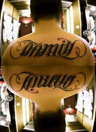 family forever ambigram i want this more feminine tho