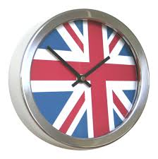 funky abstract flag time zone wall clocks uk