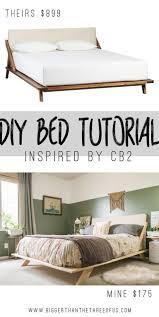 diy bed frame plans midcentury modern builds ep youtube wood