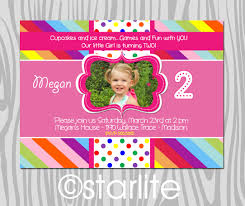 Birthday Invitation Card Design 2nd Birthday Invitations Lilbibby Com
