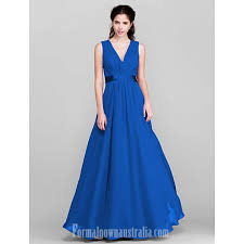 royal blue chiffon bridesmaid dresses floor length chiffon bridesmaid dress royal blue ruby