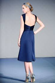 buy tailor made ruched knee length royal blue bridesmaid dress
