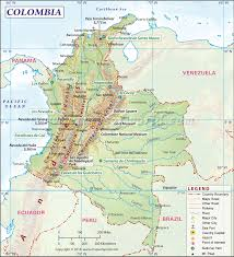 Italy Physical Map by Colombia Geography