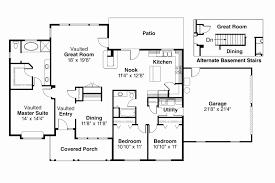 slab floor plans one story house plans on slab elegant slab grade home plans slab