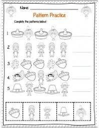 pattern math worksheets preschool adorable math worksheets for kindergarten thanksgiving about pattern